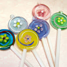 glass lollipop ornaments