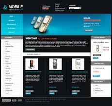 website design 21598 mobile phones shop custom website design
