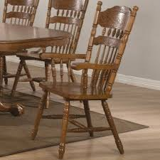 wood kitchen furniture oak finish arm chair foter