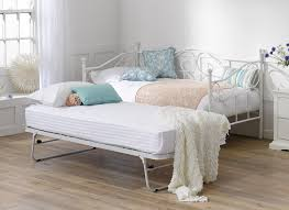 fascinating white iron double bed bedroom clean pure trundle for