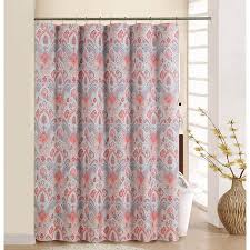 curtain with rings images Waverly boho passage coral shower curtain with rings jpeg