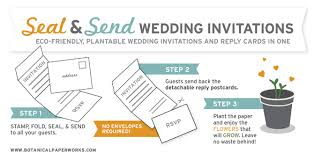 send and seal wedding invitations new seal and send wedding invitations botanical paperworks