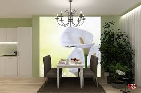 mural vertical white calla lily on green background