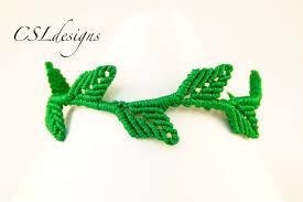 bracelet leaf images Macrame leaf bracelet jpg