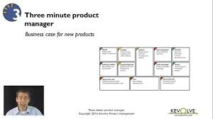 3 minute product manager business case for new products youtube