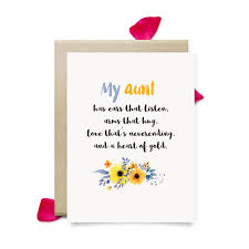 aunt birthday card cute mothers day gift for aunt printable