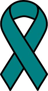 teal ribbon clipart teal ovarian cancer ribbon