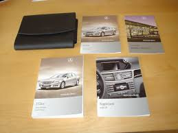 mercedes benz w212 e class owners manual handbook c w wallet 2009
