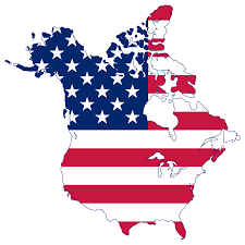 Flag Of Canada File Flag Map Of Canada And United States American Png Inside