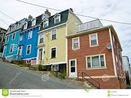 Row Houses by Row Houses St John U0027s Newfoundland Stock Photos Images U0026 Pictures