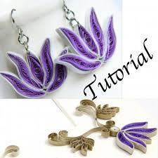 quilling earrings tutorial pdf free download paper quilling tutorial for jewelry pdf by honeysquilling on zibbet