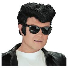 Greasers Halloween Costumes Halloween Men U0027s Greaser Costume Wig Black Target