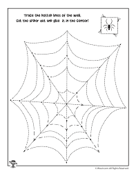 trace the spiderweb and cut and paste the spider woo jr kids