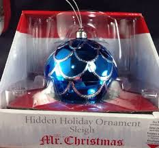 Mr Christmas Ornament - mr christmas hidden holiday ornament sleigh plays we wish you a
