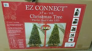 ez connect 9 ft tree pre lit dual color led technology