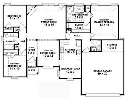 Cottage Floor Plans One Story 4 Bedroom One Story House Plans Home Planning Ideas 2017