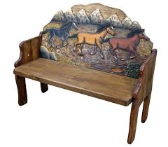 Solid Wood Benches Rustic Bench Mexican Rustic Furniture And Home Decor Accessories
