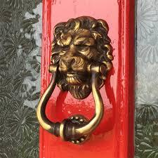 lion door knocker majestic brass lions door knocker brass door knockers