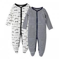 boy fleece cloud footed pajamas 2pc