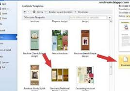 how to make brochures in word how to create a brochure with