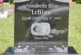 baby headstones leblanc photo etching headstone in granite