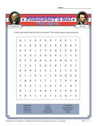 presidents u0027 day word search activity for 2nd 4rd and 4th grade