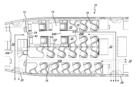Boeing 747 Floor Plan by Patent Us20130105627 High Privacy Passenger Aircraft Cabin