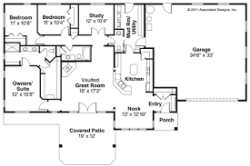 4 Bedroom Floor Plans Simple 4 Bedroom Ranch House Plans Ranch Style House Inseroco