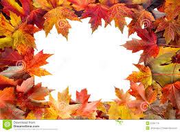 colorful fall border stock photo image 44674363