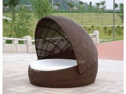 round wicker porch swing bed