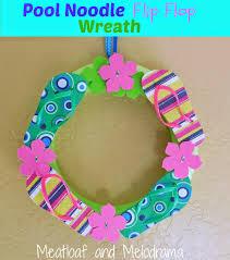 flip flop wreath pool noodle flip flop wreath meatloaf and melodrama