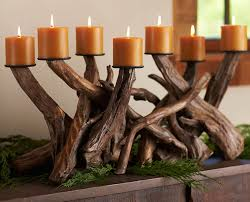 driftwood centerpieces driftwood candelabra centerpiece so that s cool