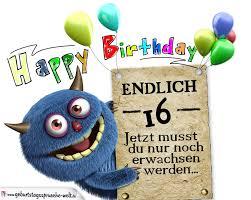 glückwünsche zum 16 geburtstag lustig erwachsen - Geburtstagsspr Che Zum 16