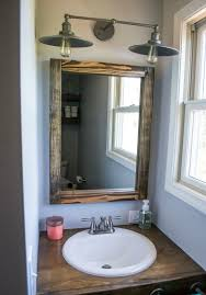 Rustic Bathroom Decor by Bathroom Vanity Lighting With Bathroom Decor Lowes Dining Room