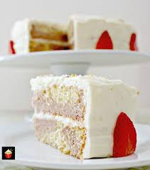 strawberry and vanilla cake lovefoodies