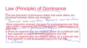 principles of mendelian genetics b 4 6 principles of mendelian