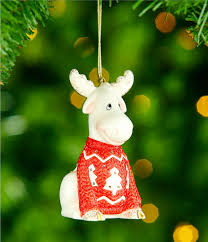 lenox sweater moose light up ornament dillards