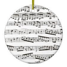 notes black white ornaments keepsake ornaments zazzle