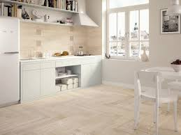 white tile flooring kitchen