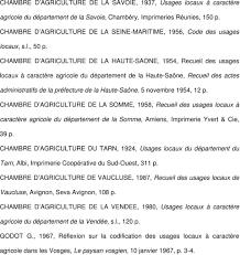 chambre d agriculture de savoie liste des recueils des usages locaux à caractère agricole consultés