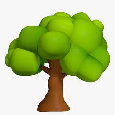 cartoon tree 3d models for download turbosquid