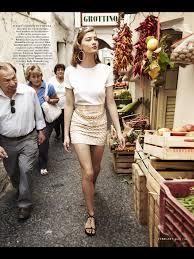italy capri vacation gold skirt white t shirt town