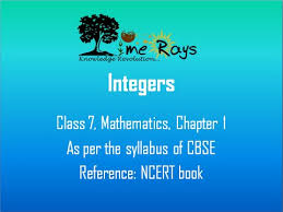 integers class 7 maths cbse ncert part i youtube