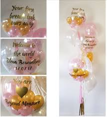 balloon delivery balloon world new custom bouquet of 3 bubbles with printed text added balloons