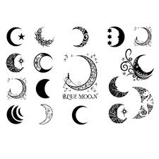 yeeech temporary tattoos sticker for varied forma moon