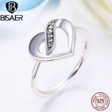 sted rings 100 genuine 925 sterling silver ribbons of clear cz wedding