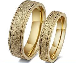 wedding ring in dubai the new titanium steel plated 18k gold wedding rings engagement