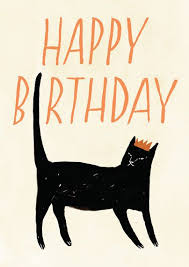 card invitation design ideas happy birthday cat card funny and