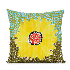 Sunflower Home Decor by Mosaic Sunflower Pillow Decorative Home Decor Uncommongoods