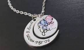 back jewelry necklace images I love you to the moon and back quot pendant groupon jpg